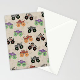 Monster Trucks Stationery Cards
