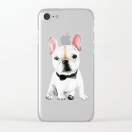 Little Gentleman French Buldog Clear iPhone Case