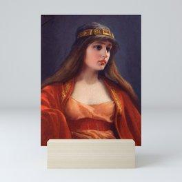"Luis Ricardo Falero ""Bedouin girl"" Mini Art Print"