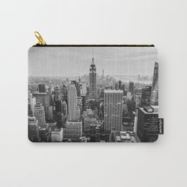 Black & White NYC Skyline Carry-All Pouch