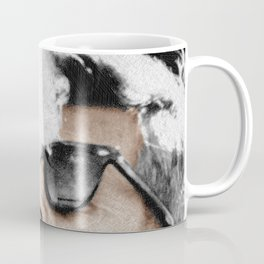 Cigar Smoker Cigar Lover JFK Gifts Black And White Photo Tees Coffee Mug