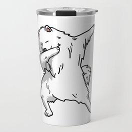 Funny Dabbing Samoyed Dog Dab Dance Travel Mug