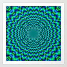 Pulse in Blue and Green Art Print