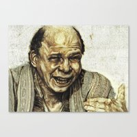 the princess bride Canvas Prints featuring Vizzini from Princess Bride by Aaron Bir