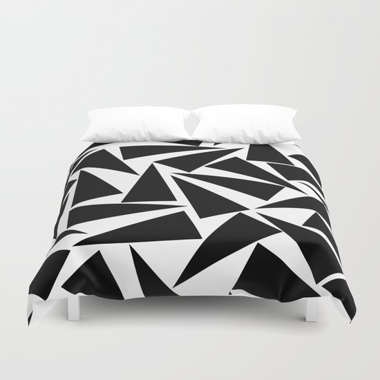 black triangle pattern Duvet Cover