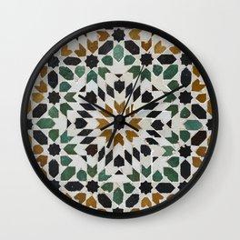 Zellij Mosaics, Marrakech Wall Clock