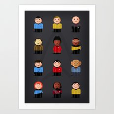 Star T - Little Ppl Art Print