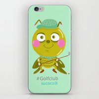 golf iPhone & iPod Skins featuring GOLF by Sucoco