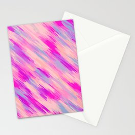 pink purple and blue painting abstract background Stationery Cards