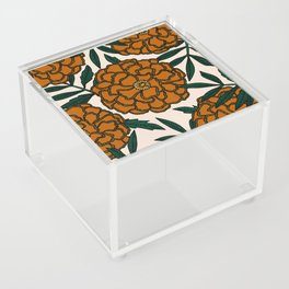 Orange Marigolds Acrylic Box