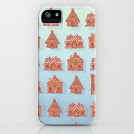 Gingerbread house pattern (V2) iPhone Case