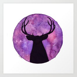 Mr. Deer and the Universe Art Print