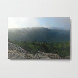 Morning Fog in the Boston Mountains Metal Print
