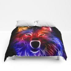 3d,wolf, Comforters
