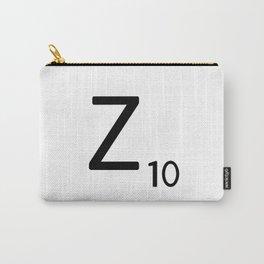 Letter Z - Custom Scrabble Letter Tile Art - Scrabble Z Initial Carry-All Pouch