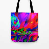 cracked Tote Bags featuring Cracked by David  Gough