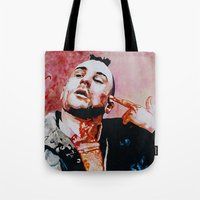 taxi driver Tote Bags featuring Taxi driver by BaconFactory
