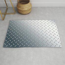 Diamond Plate Metal Pattern Rug