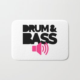 Drum & Bass Speaker Music Quote Bath Mat