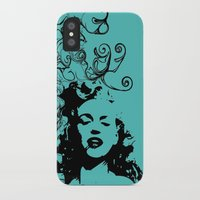 monroe iPhone & iPod Cases featuring MONROE by Bianca Lopomo