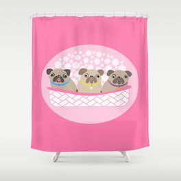 Bouquet of dogs Shower Curtain
