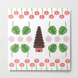 Balinese Pura, Sacred Lotus Temple Metal Print