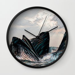 Playful Pod of Whales Wall Clock