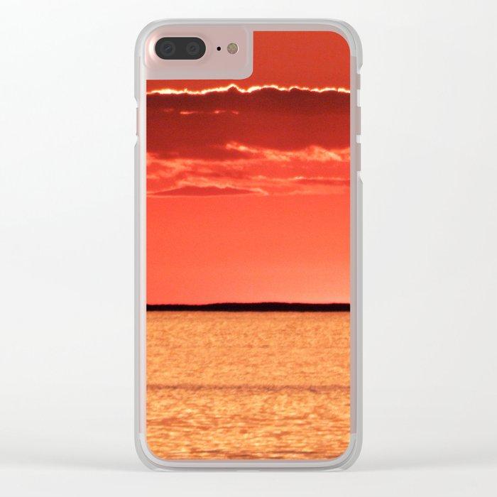 Orange Sky and Sea Clear iPhone Case