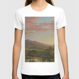 A New England Lake by Frederic Irwin Church T-shirt