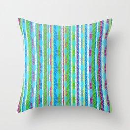 Striped Retro Pattern Throw Pillow
