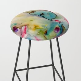 green absstract Bar Stool