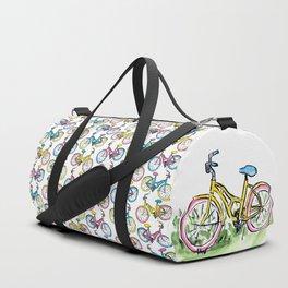 Pastel Primary Bicycle Duffle Bag