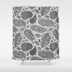 Nugs in Black and White Shower Curtain
