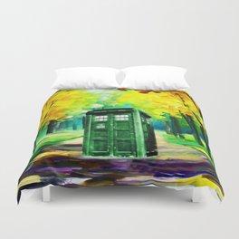 PAINTING TARDIS Duvet Cover