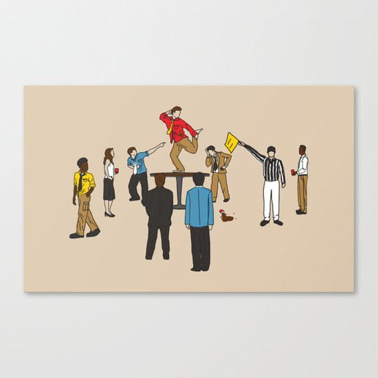 Party Foul Canvas Print