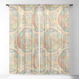 Complex geometric pattern Sheer Curtain
