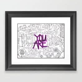 You Are - Fuchsia Framed Art Print