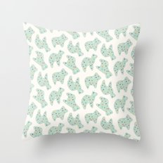 Animal Cookies - in Mint Throw Pillow