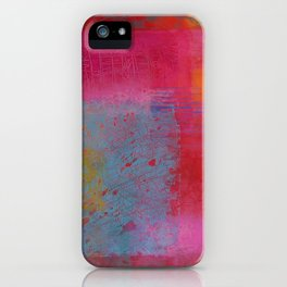 Abstract mood in pinks iPhone Case