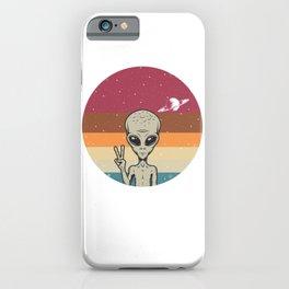 Alien Peace Sign iPhone Case