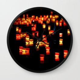 Floating Laterns Wall Clock
