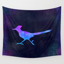 ROADRUNNER IN SPACE // Animal Graphic Art // Watercolor Canvas Painting // Modern Minimal Cute Wall Tapestry