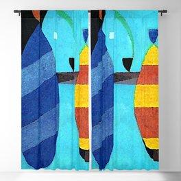Wassily Kandinsky Both Striped Blackout Curtain