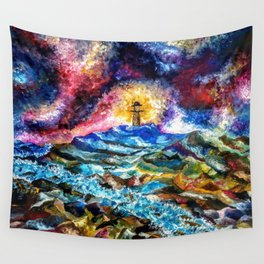 Lighthouse Landscape Wall Tapestry