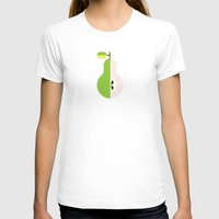 pear T-shirts featuring Fruit: Pear by Christopher Dina