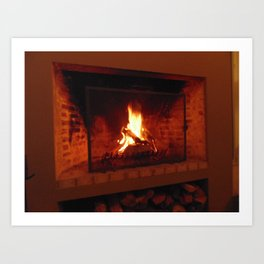 Fireplace . Art Print
