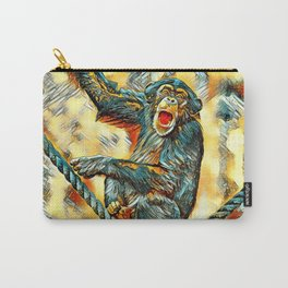 AnimalArt_Chimpanzee_20170901_by_JAMColorsSpecial Carry-All Pouch