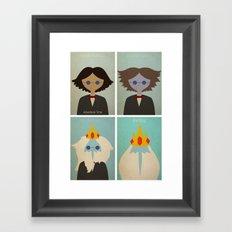 Minimalist Adventure Time Simon Petrikov/Ice King Framed Art Print