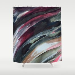 Abstract Ink Smear  Shower Curtain