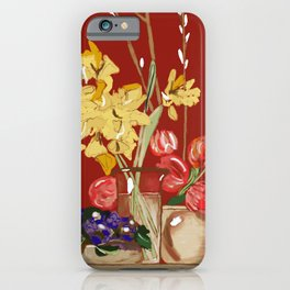 Blossoms of Love #AcrylicPainting iPhone Case
